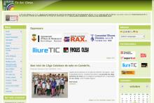 Imatge de la web de Tir Arc Olesa - www.arcolesa.org (desenvolupat amb Drupal per lliureTIC.cat)