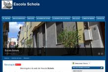 Imagen de la web de la Escola Schola - www.schola.cat (desarrollado con Drupal por lliureTIC.cat)