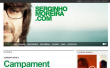 Imatge de la web de Serginho Moreira - www.serginhomoreira.com (desenvolupat amb Drupal per LliureTIC a l'any 2013)